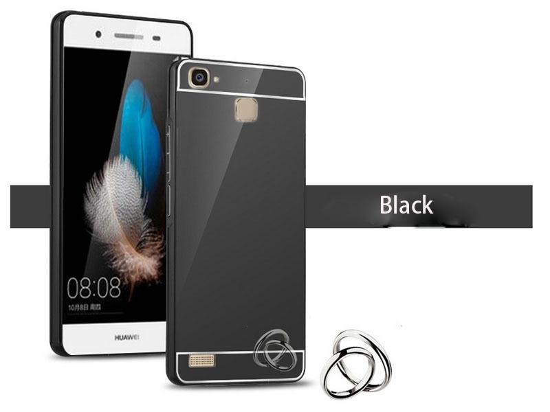 OEM Hliníkový obal kryt pouzdro pro Huawei Ascend P7 - Černý