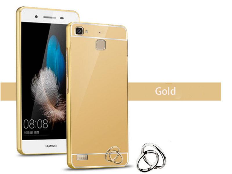 OEM Hliníkový obal kryt pouzdro pro Huawei Ascend P7 - Zlatý