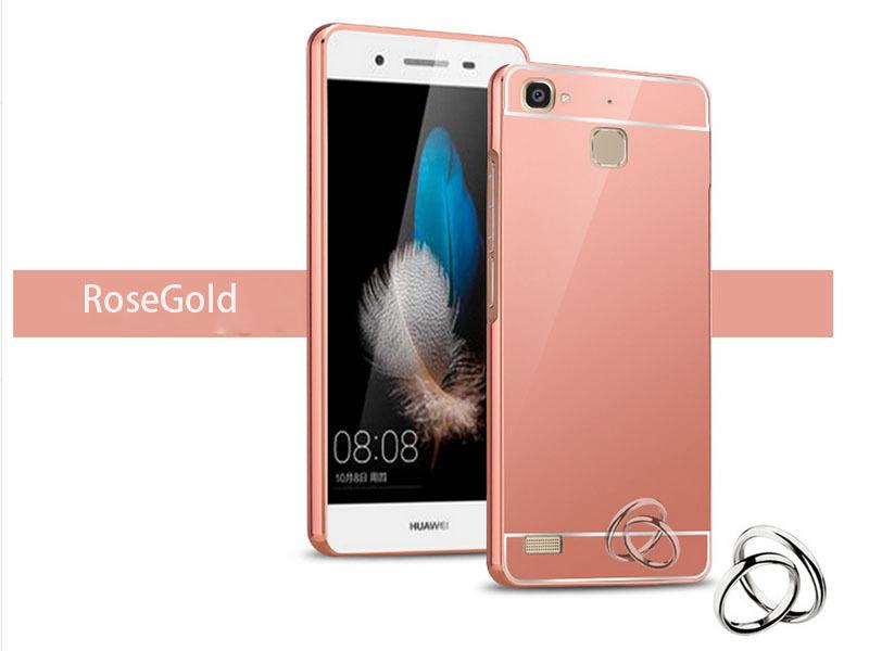 OEM Hliníkový obal kryt pouzdro pro Huawei Ascend P7 - Růžový