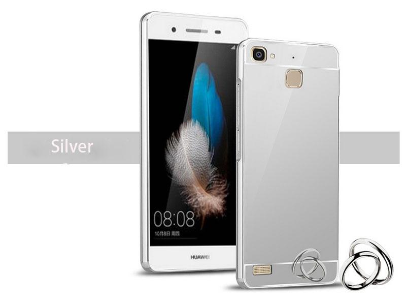 OEM Hliníkový obal kryt pouzdro pro Huawei Ascend P7 - Stříbrný