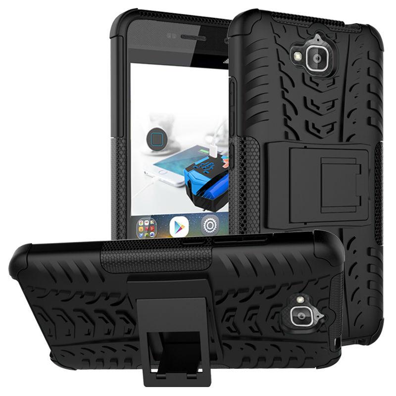 HATOLY Odolný obal HEAVY DUTY pro Huawei Y6 Pro - Černé