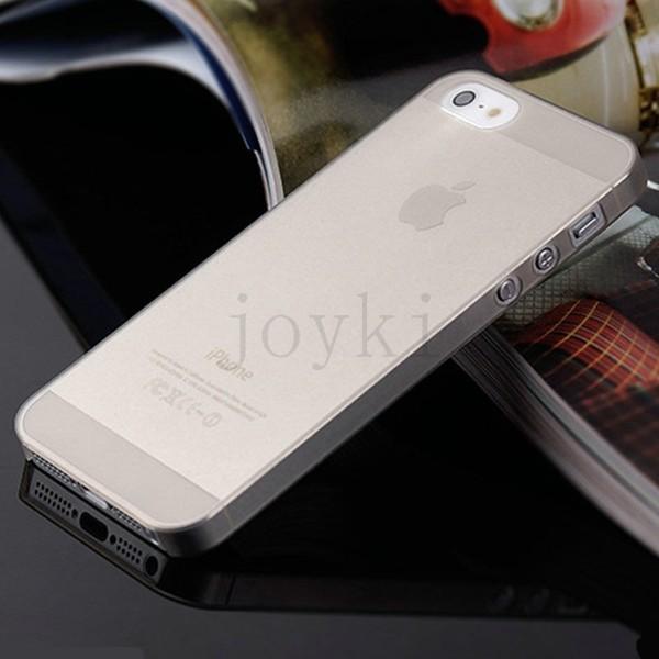Ultratenký plastový kryt pro Apple iPhone 5 5S SE - šedý
