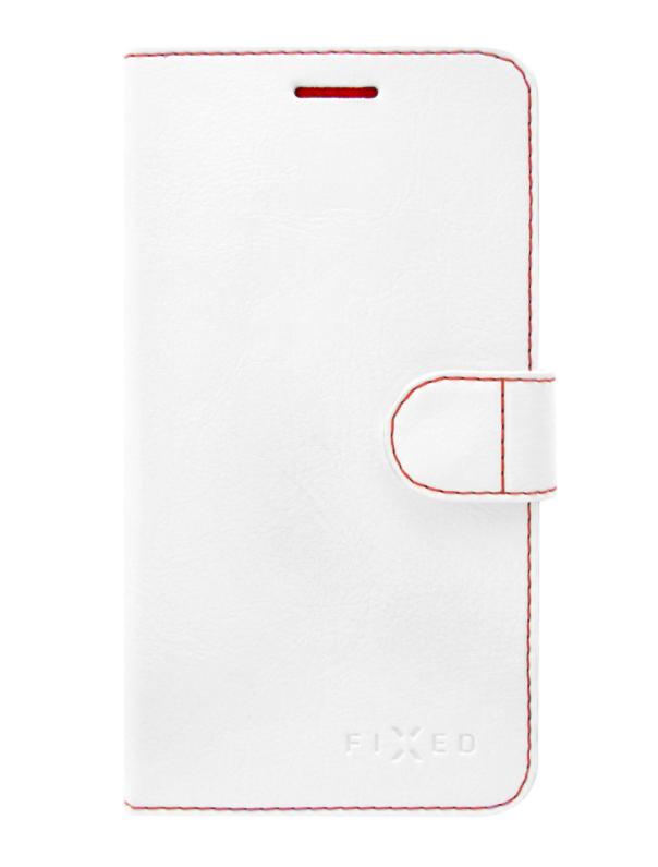 Pouzdro typu kniha FIXED FIT pro Lenovo K8 Note - bílé