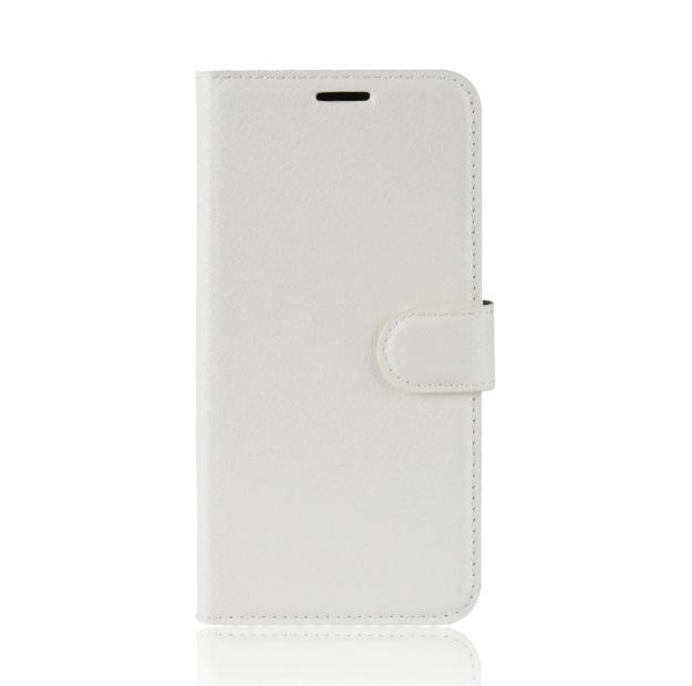 MUXMA Kožené pouzdro CLASSIC pro Vodafone Smart E8 - bílé