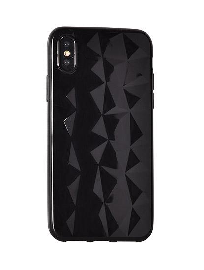 Silikonový obal Prism Diamond pro HUAWEI Y6 2018 / Y6 PRIME 2018 - černý