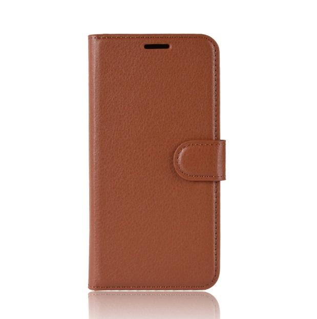 Levně MicroData Kožené pouzdro CLASSIC pro Vodafone Smart C9 - Hnědé