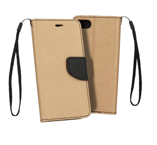 Telone Flipové pouzdro Fancy Book pro Xiaomi Mi A2 Lite / Redmi 6 Pro - zlato/černé