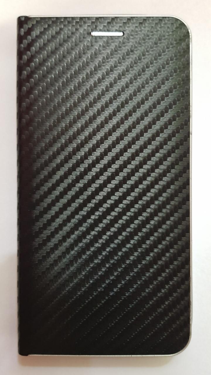 R2Invest Kožené pouzdro CARBON pro LG K40 - černé