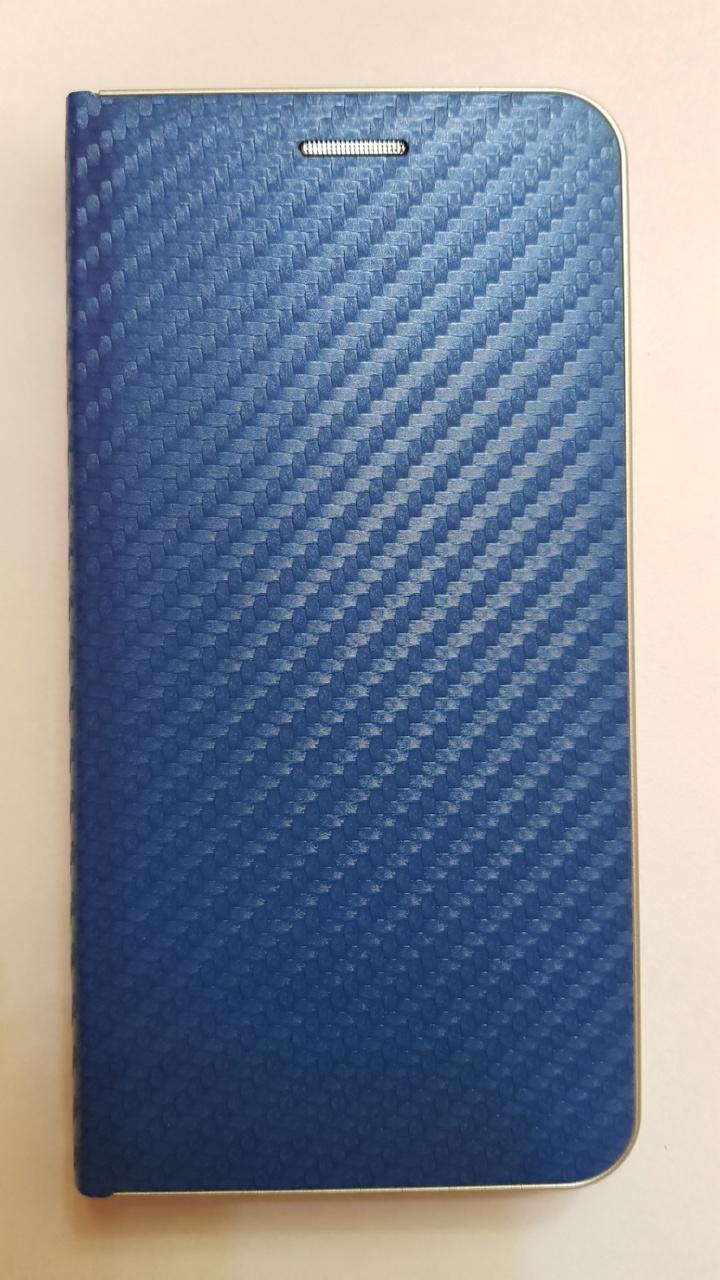 R2Invest Kožené pouzdro CARBON pro LG K40 - modré