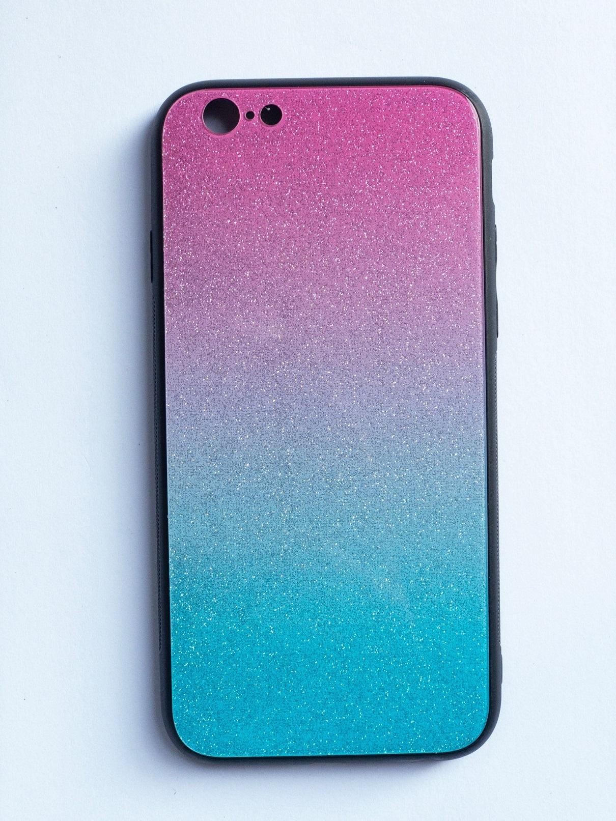 OEM Glass case SHINNING pro iPhone 6 / 6S (4,7) - modro/růžový