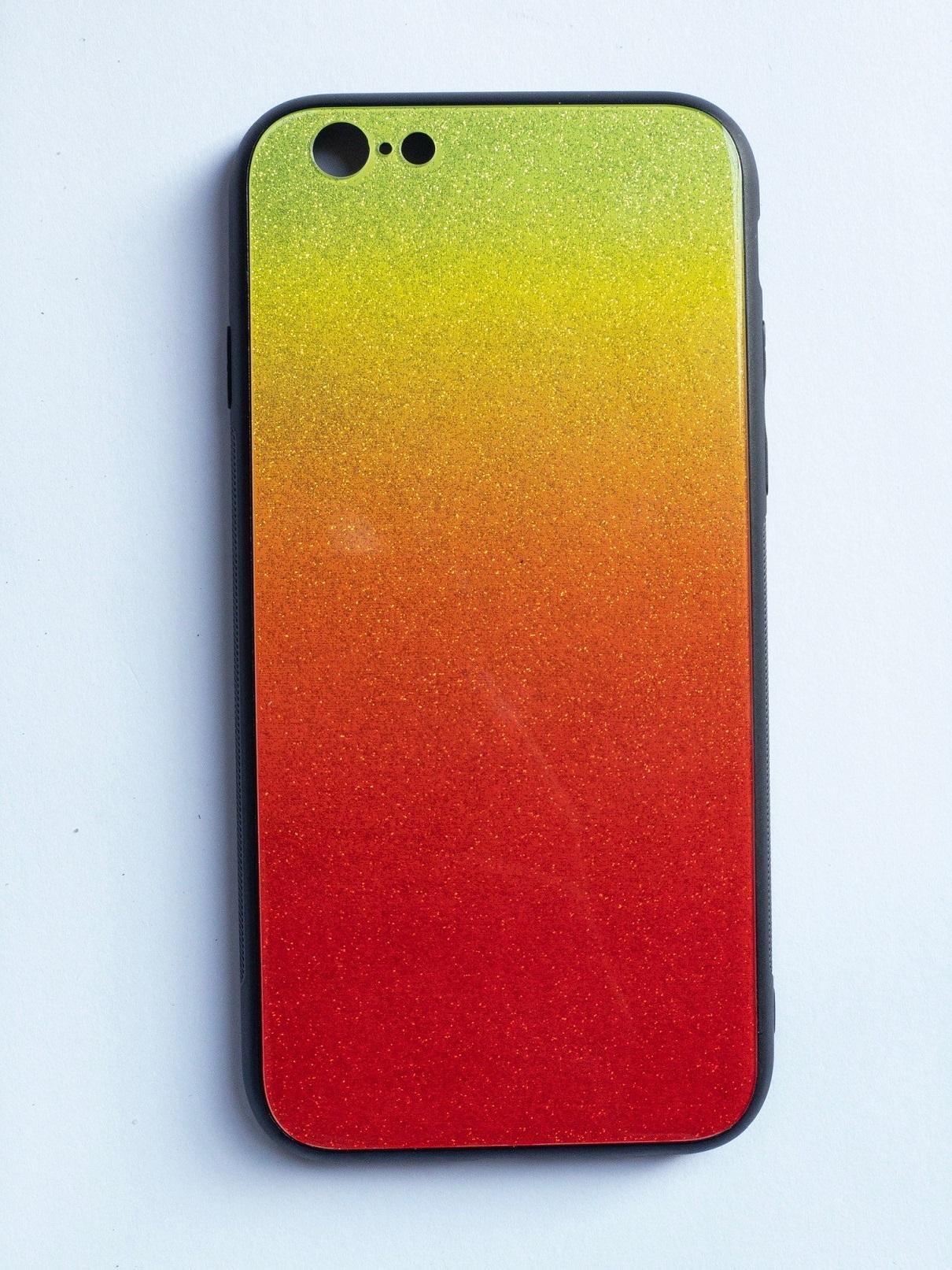OEM Glass case SHINNING pro iPhone 6 (4,7) - oranžovo/zelený