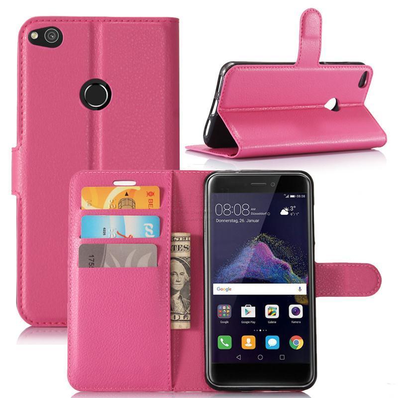 MicroData Kožené pouzdro CLASSIC pro Huawei P8 Lite 2017 - Růžové