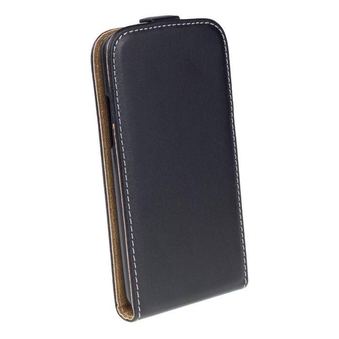 AMA Kožené pouzdro FLEXI Vertical pro Sony Xperia Z3 Plus - černé