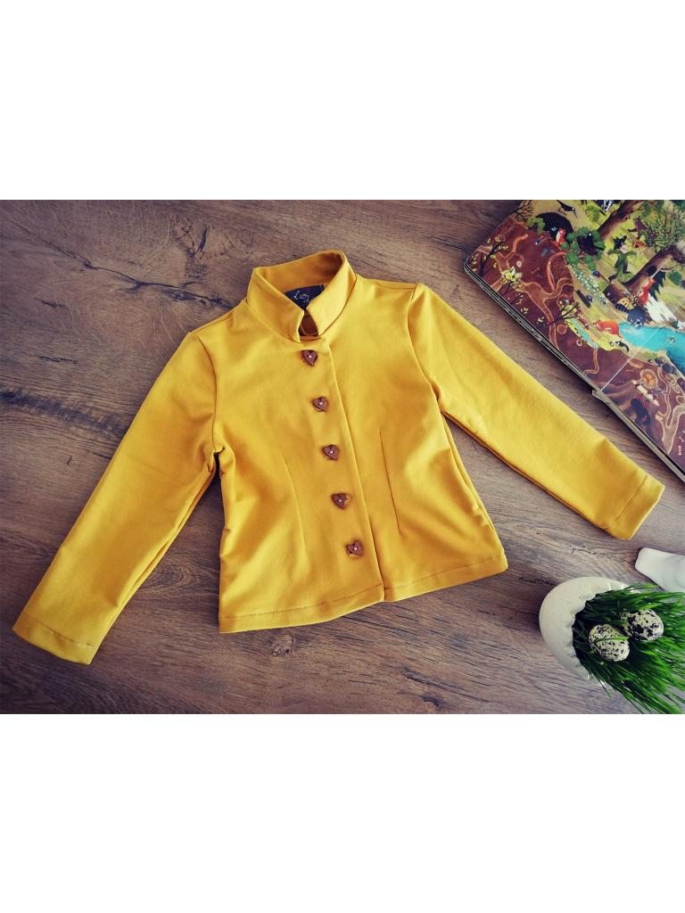Kabátek se stojáčkem - hořčicová žlutá