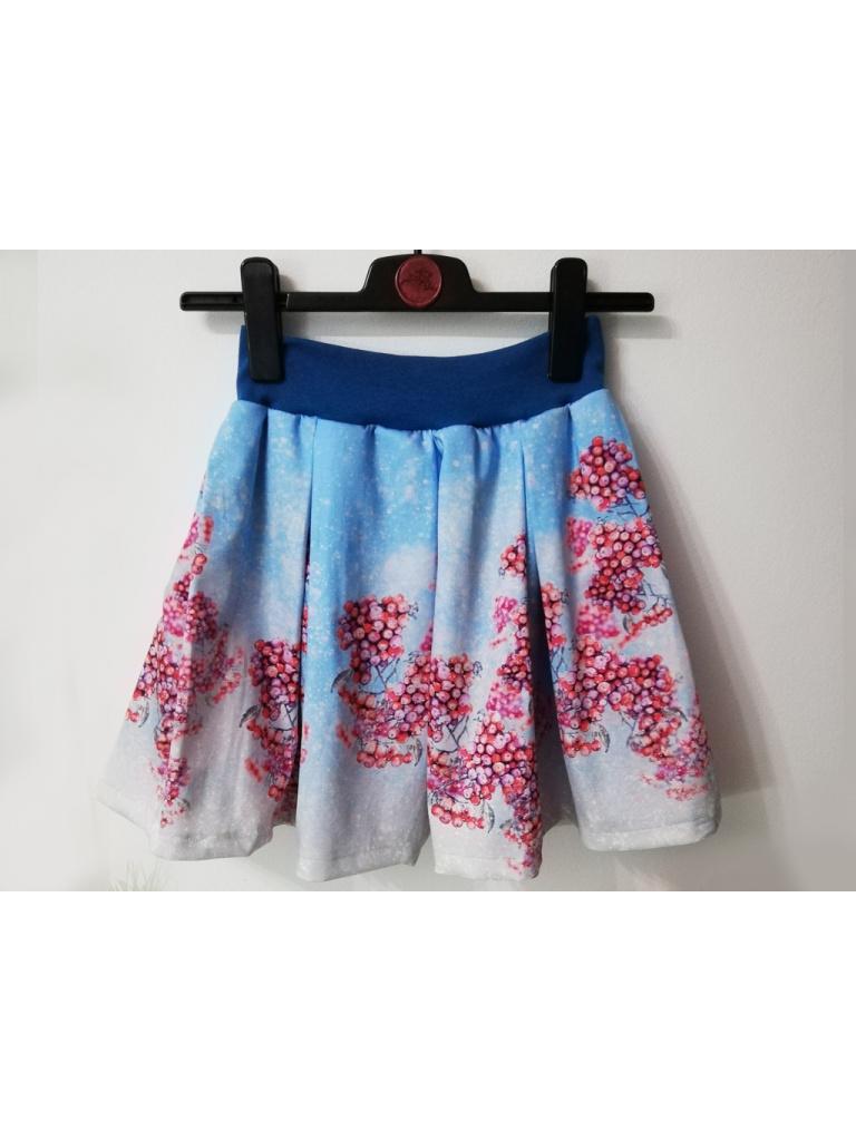 Skládaná sukně s elastickým pasem, kapsami, v krátké verzi