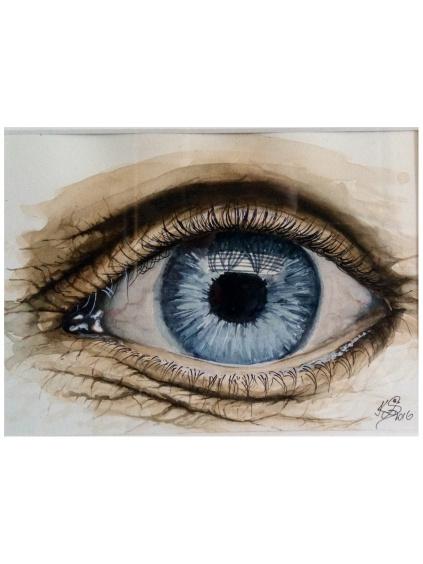 Trilogie očí - oko dítěte, mladé a zralé ženy