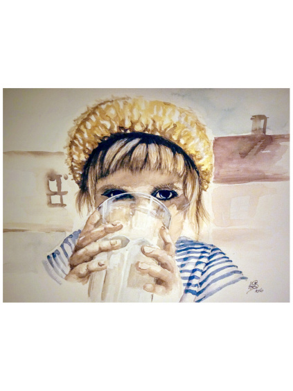 Se sklenicí mléka - Má Ráchel