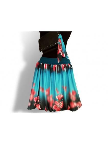 Dámská balónová sukně v autorském designu Třešně