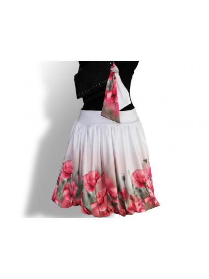 Dámská balónová sukně v autorském designu Něžné máky