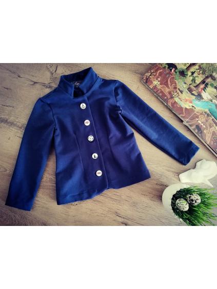 Kabátek se stojáčkem - tmavě modrý