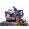 13 ekotaska americka vlajka s hvezdami na modre