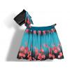 Dámská balónová sukně v autorském designu Třešně s šátkem ke kabelce