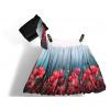 Dámská balónová sukně v autorském designu Vášnivé máky s šátkem ke kabelce