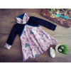 Šaty / tunika - Ledňáčci v notách černo-růžové