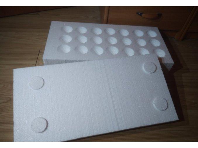 Polystyrénový box na zasílání násadových vajec - na 21 vajec