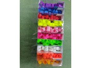 Značící zámkové kroužky PLAST 18mm - různé barvy