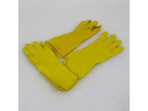 Latexové gumové rukavice s vložkou