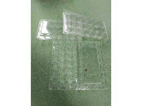 Plastový transportní obal na 18 ks křepelčích vajec