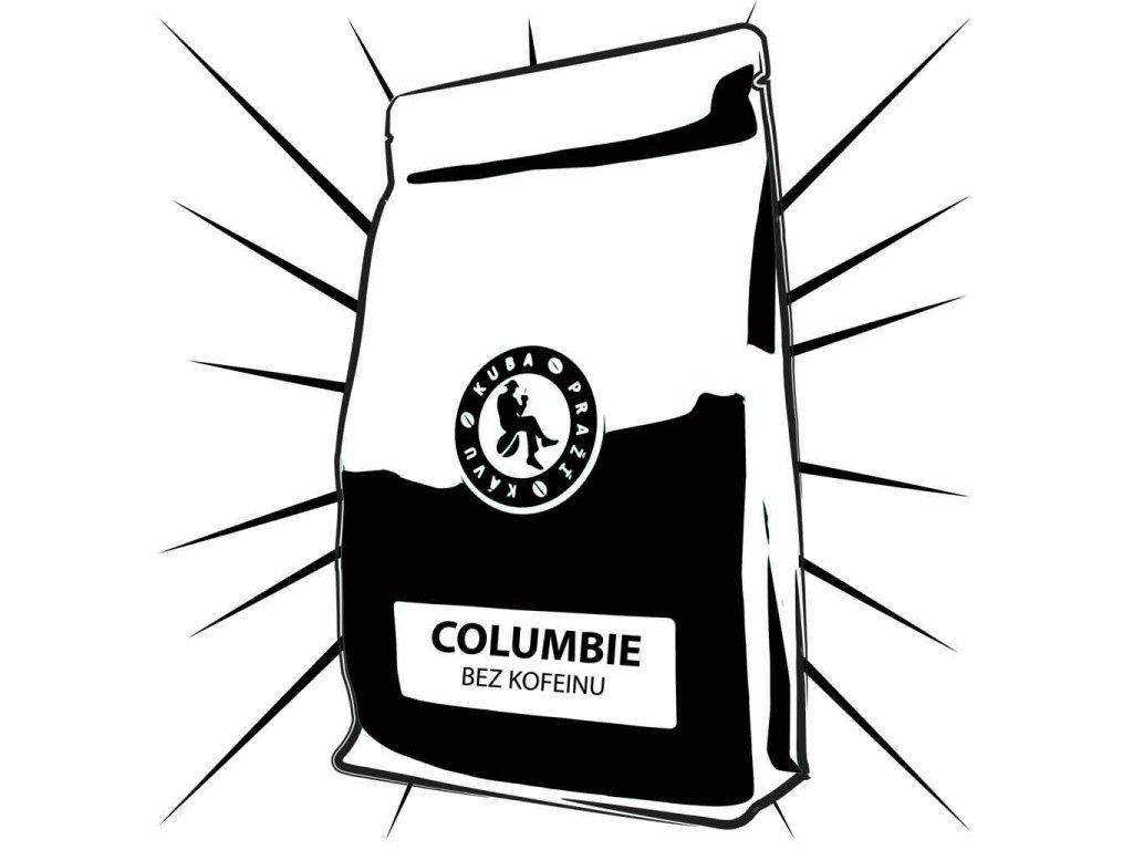 kolumbie bez kofeinu kuba prazi kavu