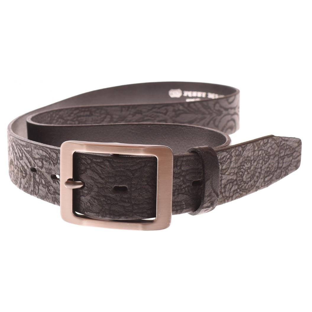 Dámský kožený opasek černý - 6159-V2-90