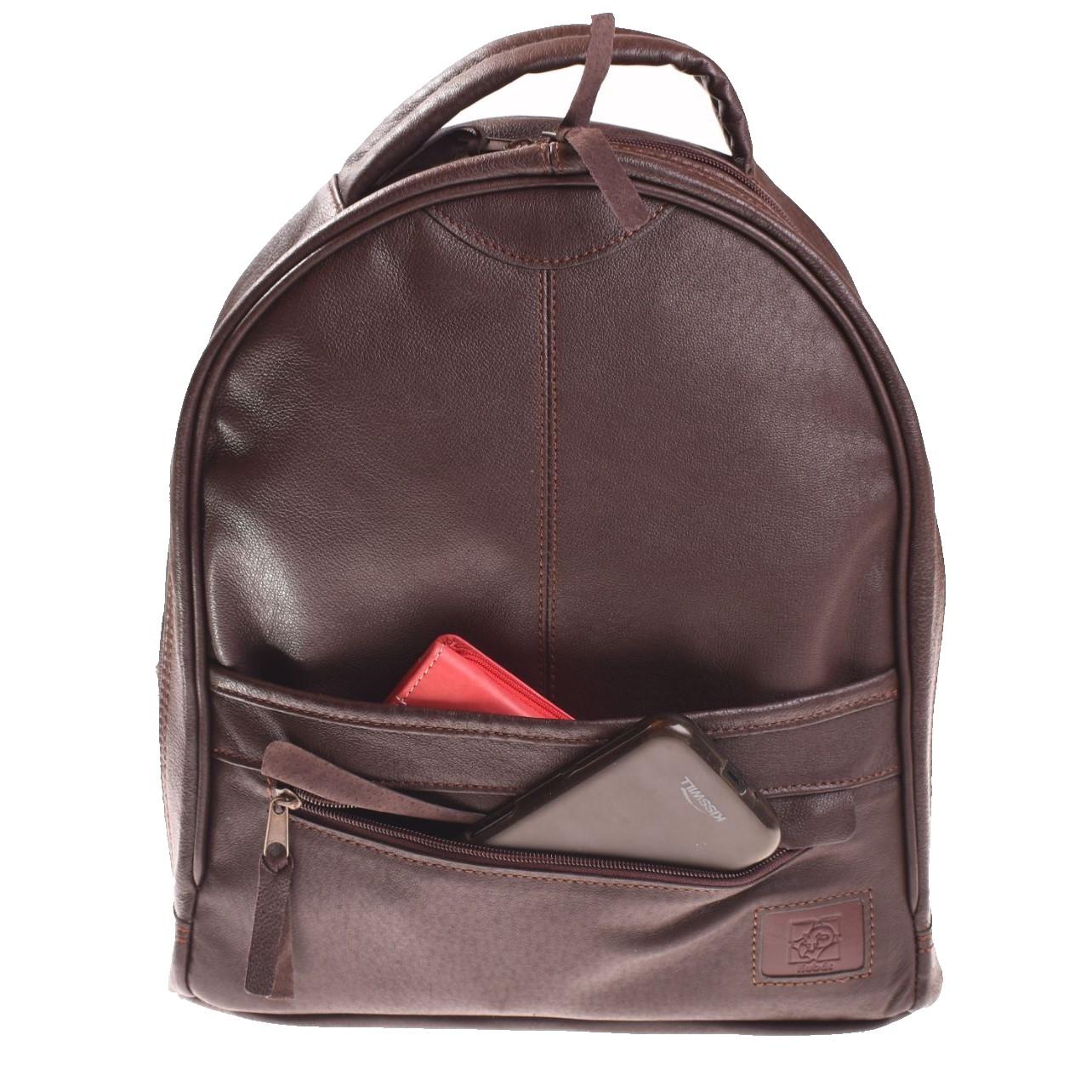 Kožený batoh zipový - 21134