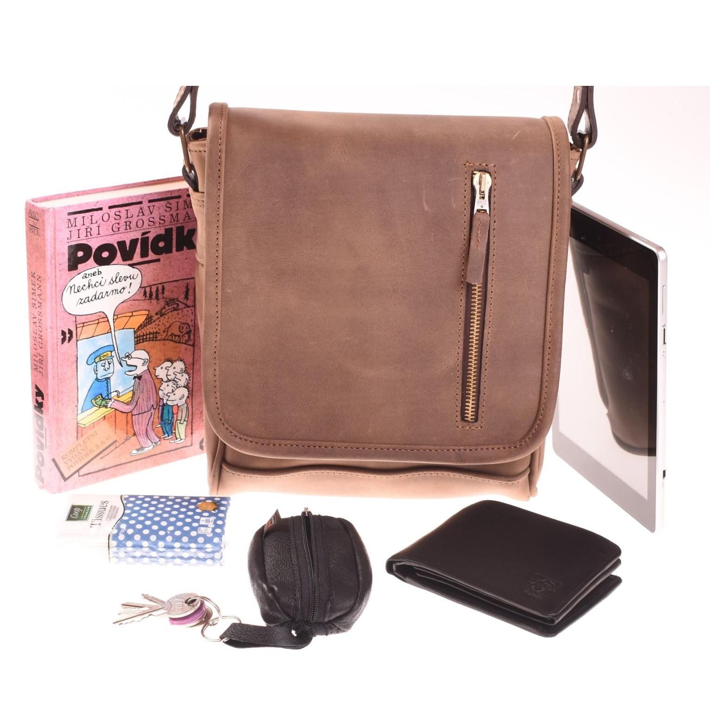 Pánská kožená taška přes rameno - 572332B