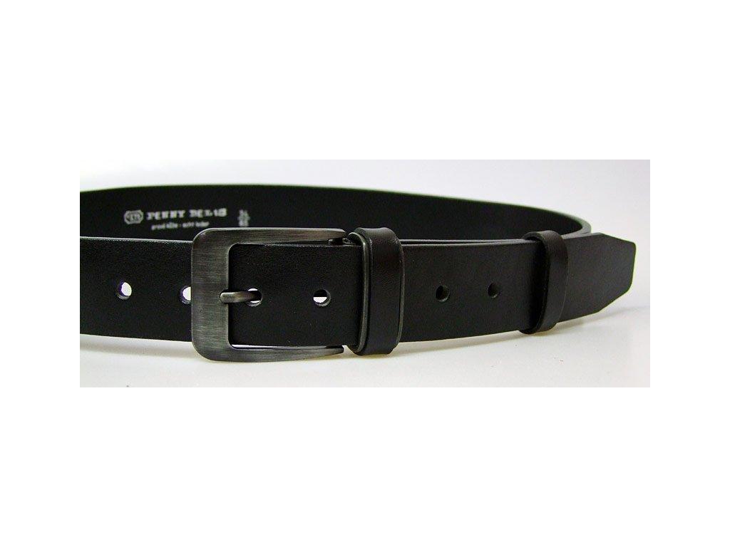 pánský černý kožený opasek český výrobek Kubát 60012-2-PR1-60