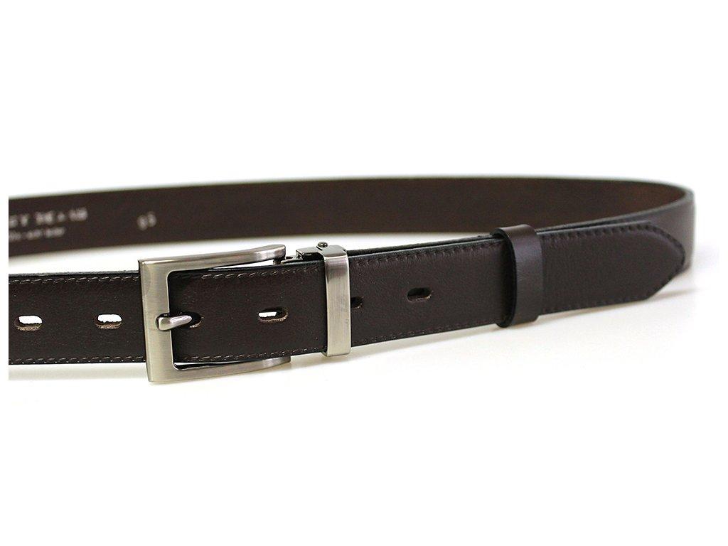 pánský hnědý kožený společenský opasek český výrobek Kubát 60030-020-4-40