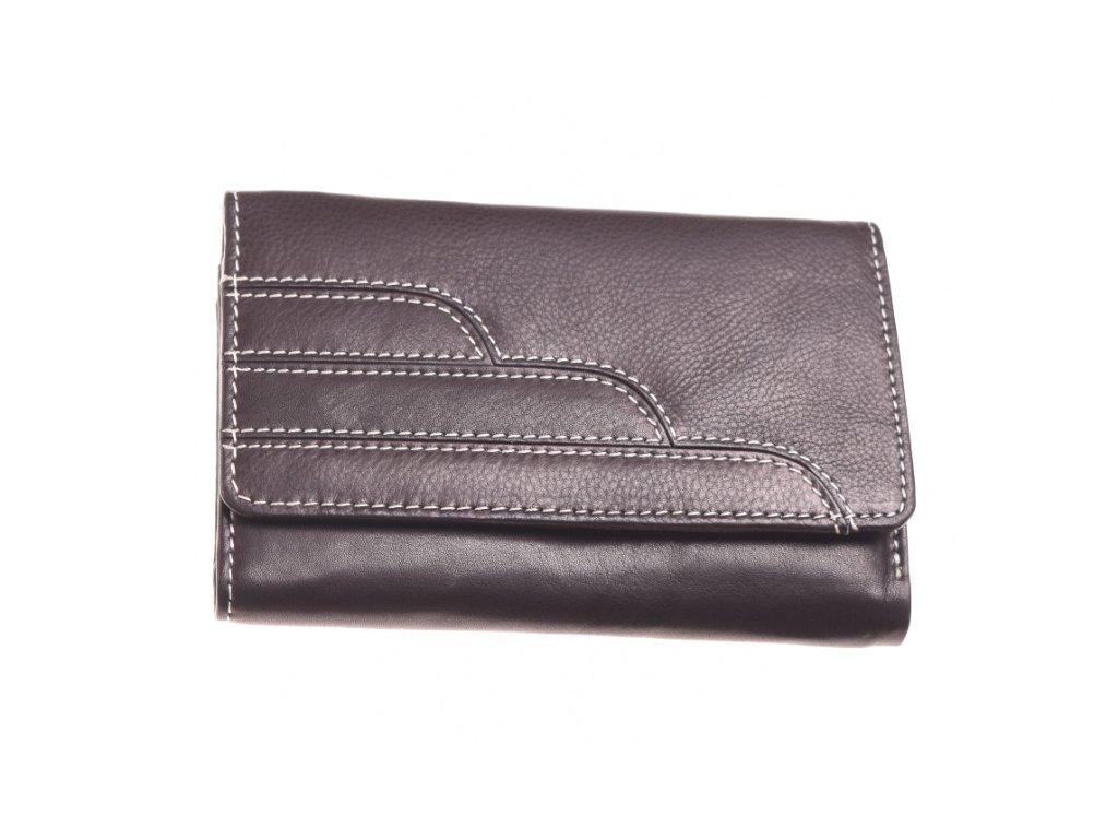 dámská kožená peněženka černá 71512 A 1