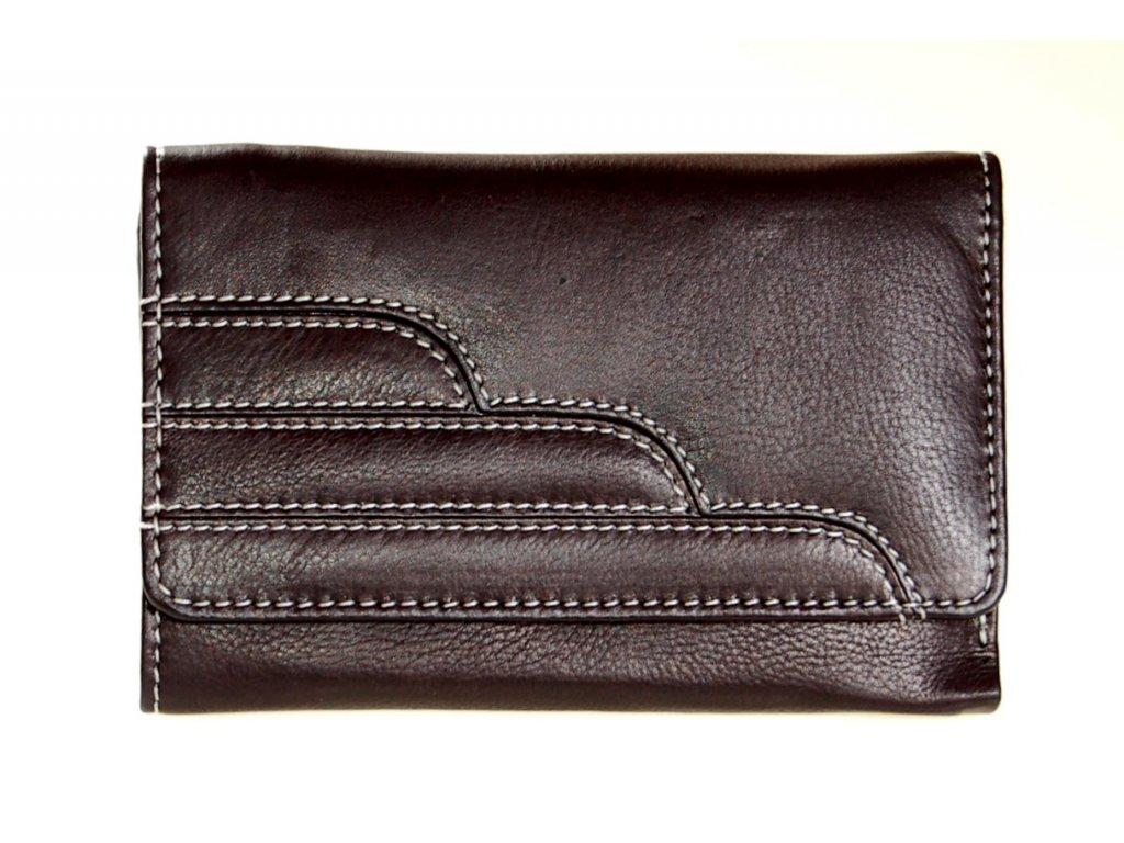 dámská kožená peněženka černá 71512 A