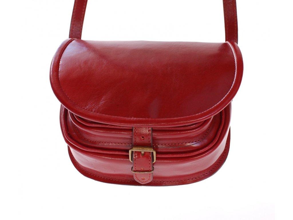 červená lovecká kabelka klasická dámská pánská český výrobek Kubát 12062