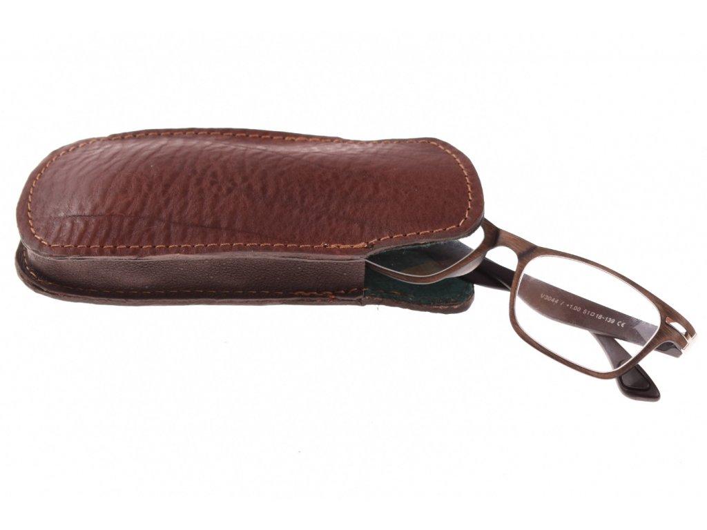 kožené klasické pouzdro na brýle -  41632