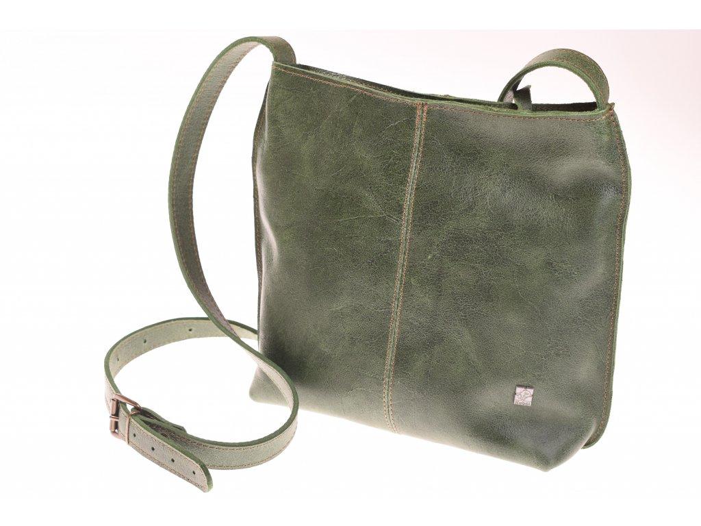 zelená dámská kožená kabelka Fiala 51882 (6)