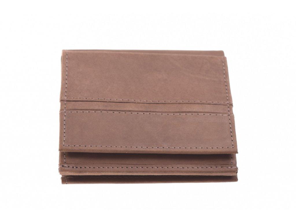 malá cestovní kožená peněženka hnědá 734633 1