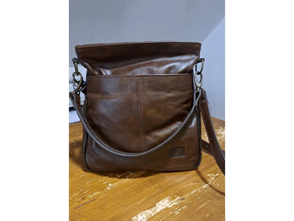 červená elegantní kožená kabelka dámská český výrobek Kubát 57662B