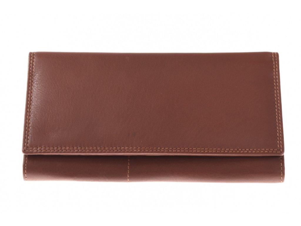 Dámská kožená hnědá peněženka 733642 1