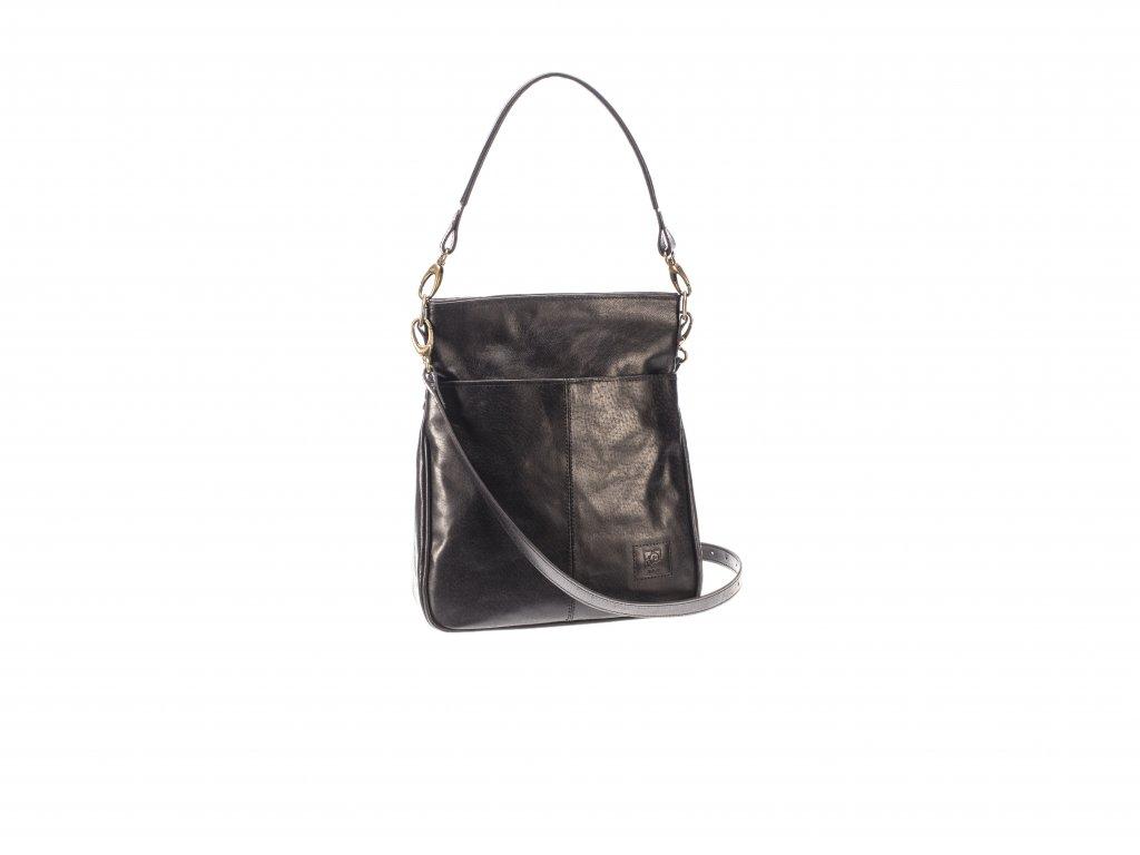 černá elegantní kožená kabelka dámská český výrobek Kubát Amálka 57614