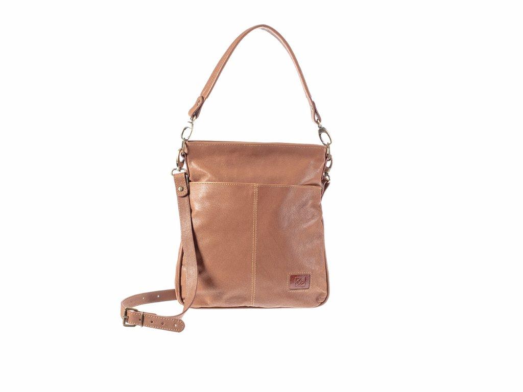 rezavá elegantní kožená kabelka dámská český výrobek Kubát Amálka 57654