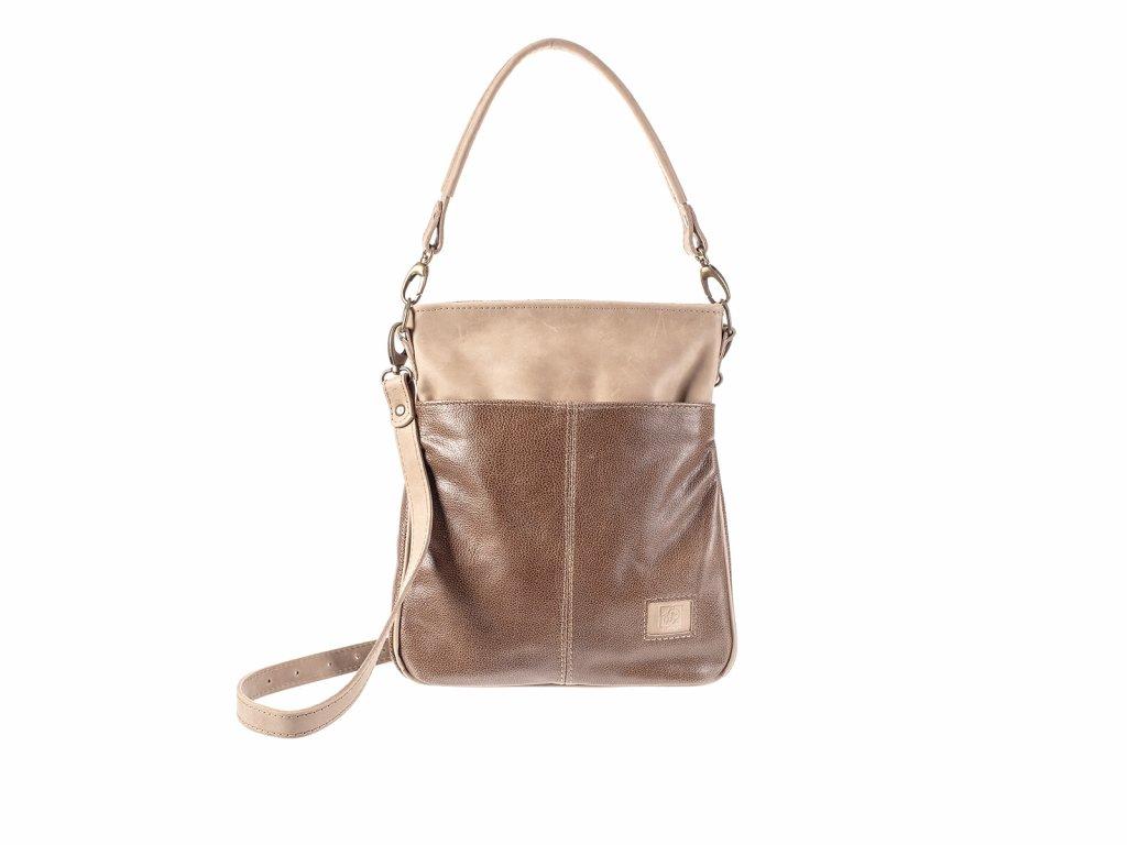 olivová elegantní kožená kabelka dámská český výrobek Kubát 57682