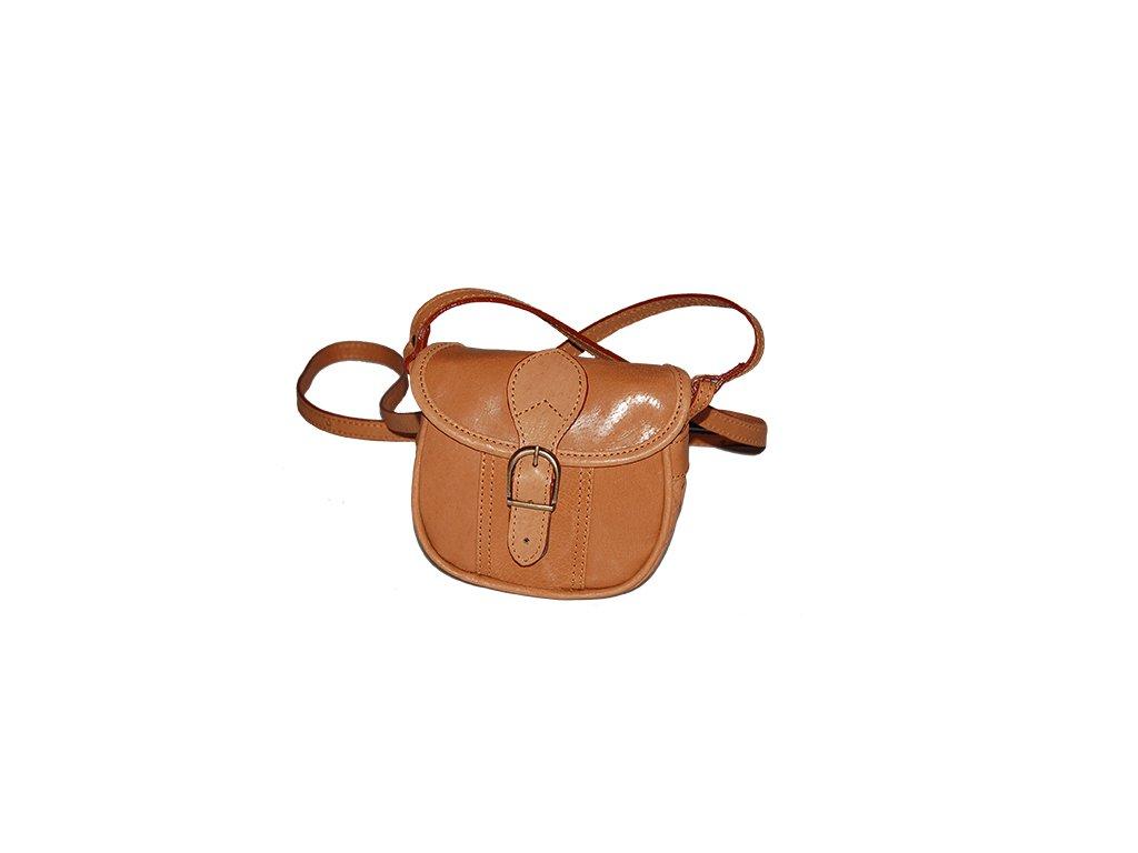 malá rezavohnědá kožená kabelka dámská crossbody český výrobek Kubát 10151